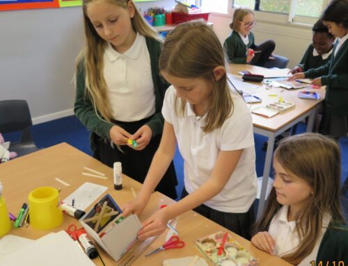 Design and Technology – Getting busy with their prototypes!